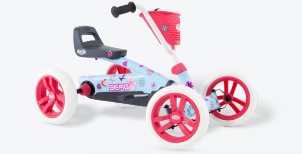 BERG Pedal-Gokart Buzzy Bloom inkl. Anhängerkupplung